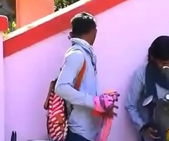 Desi Indian longing hair teen school girl outdoor