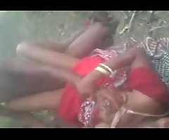 Horny Desi south indian village cheating girl hard fucked threesome jungle by there outdoor going to bed sound seeming audio