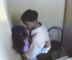 indian dame having fun with her boyfriend in internet cafe